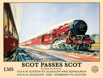 Scot Passes Scot Metal Sign - click to enlarge