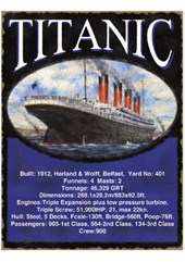 Titanic Metal Sign