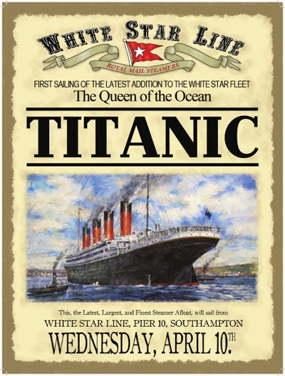 Titanic White Star Line Metal Sign - click to enlarge