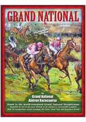 Grand National Metal Sign