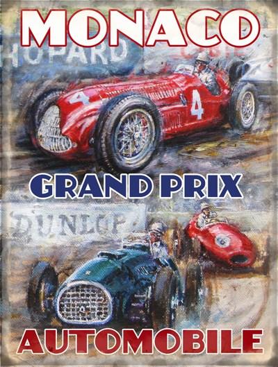Monaco Grand Prix Metal Sign - click to enlarge