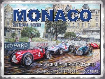 Monaco 1956 Metal Sign - click to enlarge