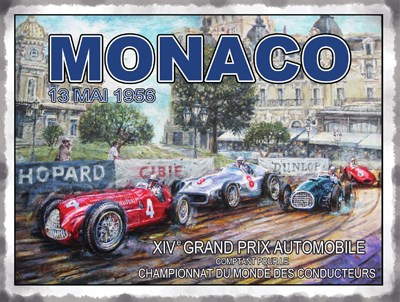 Monaco 1956 Metal Sign - click to enlarge