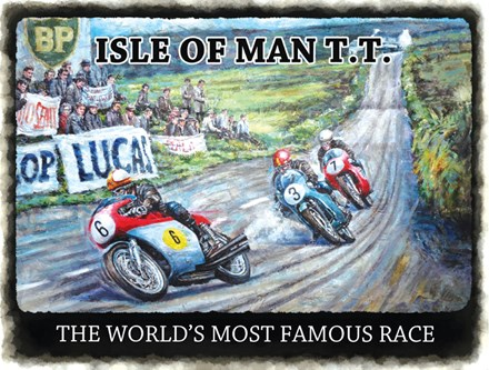 Isle of Man TT Metal Sign - click to enlarge