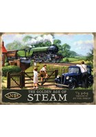 The Golden Age of Steam Metal Sign