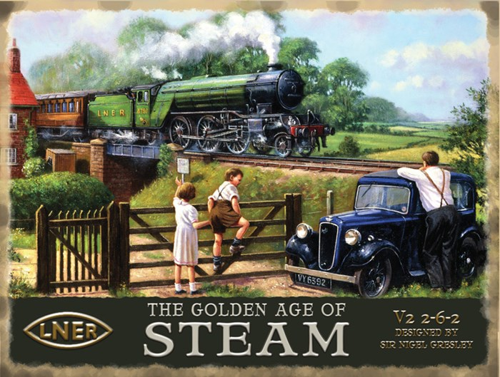 The Golden Age of Steam Metal Sign - click to enlarge