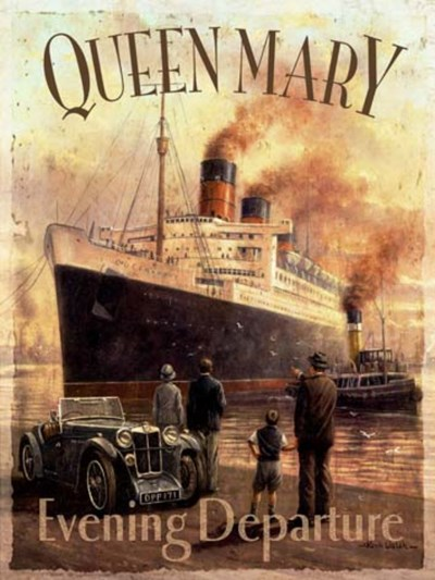 Queen Mary Metal Sign - click to enlarge