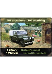 Land Rover Go anywhere Metal Sign