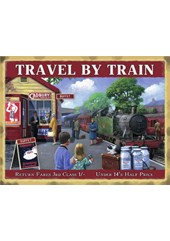 Travel byTrain Metal Sign