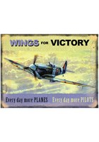 Wings for Victory Metal Sign