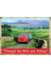 Foden Through the Hills Metal Sign