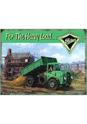 Foden Heavy Load Metal Sign