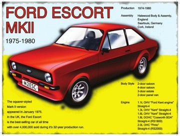 Ford Escort Mk II Metal Sign - click to enlarge