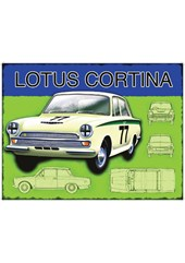 Lotus Cortina Metal Sign