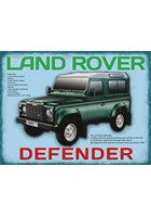 Land Rover Defender Metal Sign