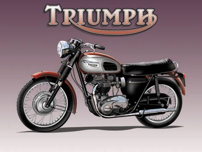Triumph Metal Sign - click to enlarge