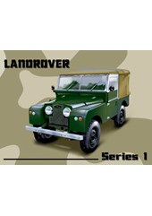 Land Rover Series One Metal Sign