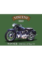 Vincent HRD Metal Sign