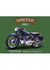 Vincent HRD Metal Sign