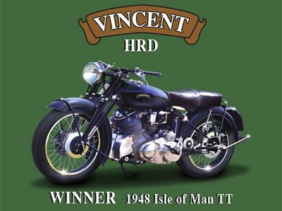 Vincent HRD Metal Sign - click to enlarge