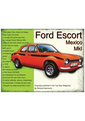 Ford Escort Mexico Mk I Metal Sign