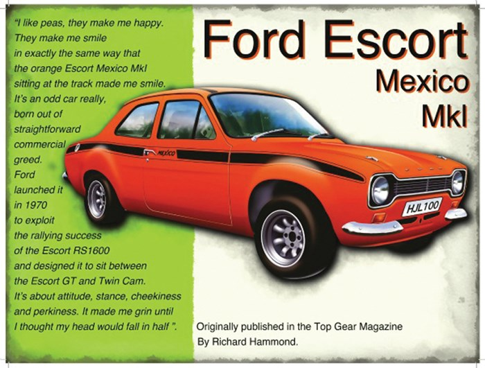 Ford Escort Mexico Mk I Metal Sign - click to enlarge