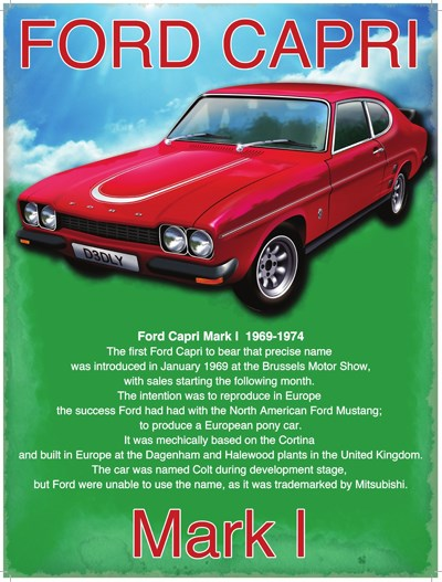 Ford Capri Metal Sign - click to enlarge