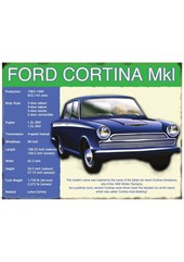 Ford Cortina Mk I Metal Sign