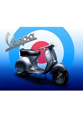 Vespa Metal Sign