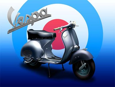 Vespa Metal Sign - click to enlarge