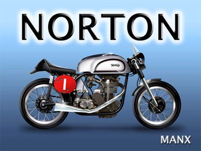 Norton Metal Sign - click to enlarge