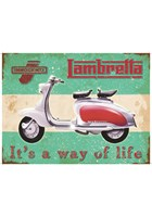 Lambretta Metal Sign