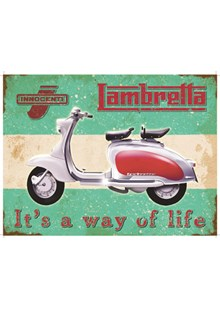 Lambretta Metal Sign