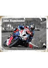 John McGuinness Metal Sign
