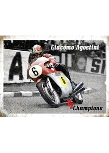 Giacomo Agostini Metal Sign