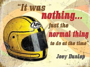 Joey Dunlop Helmet Metal Sign - click to enlarge