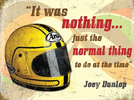 Joey Dunlop Helmet Metal Sign - click to enlarge