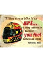Valentino Rossi Helmet Metal Sign