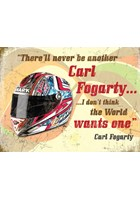 Carl Fogarty Metal Sign