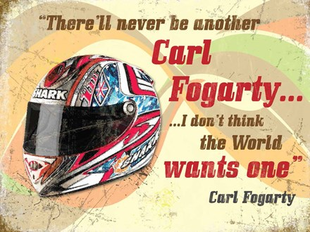 Carl Fogarty Metal Sign - click to enlarge