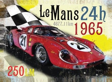 Le Mans 1965 Metal Sign - click to enlarge