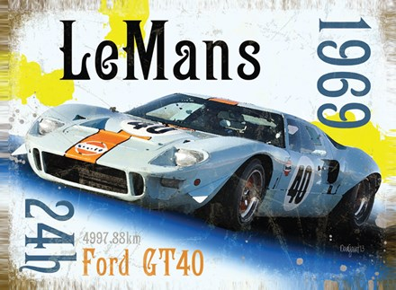 Le Mans 1969 Metal Sign - click to enlarge