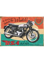 BSA Rocket Metal Sign