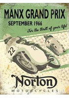 Manx Grand Prix Norton Metal Sign