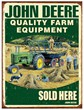 John Deere Farm Equipment Metal Sign