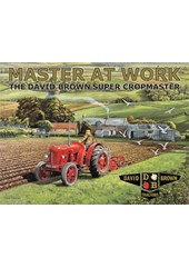 David Brown Tractors Master at Work Metal Sign