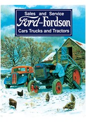 Ford and Fordson Portrait Metal Sign