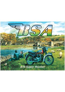 BSA A10 Super Rocket Metal Sign