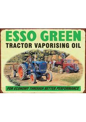 Esso Green Metal Sign