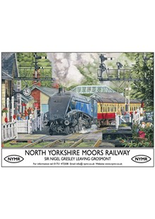 North Yorkshire Moors Railway Metal Sign